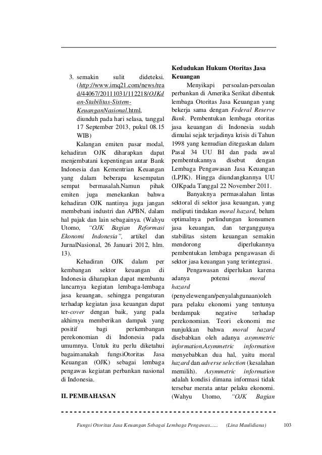 Fungsi ojk sebagai lembaga pengawas perbankan nasional Slide 2