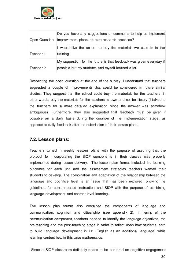 Funiber John Morales Efficacy Of The Siop Model In