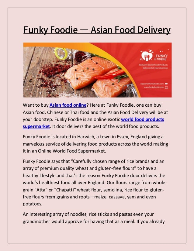 Funky foodie asian food delivery