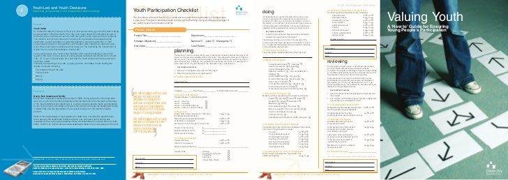 Youth Participation Checklist         Youth Led and Youth Decisions     4                                                 ...