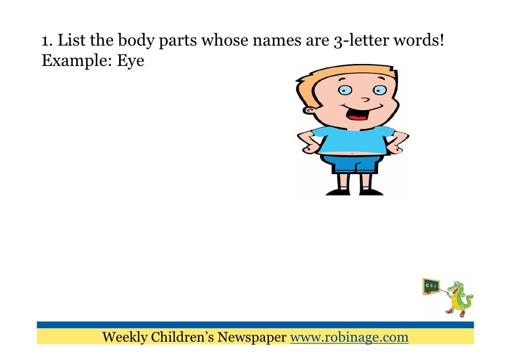 fun learning for kids parts of the body