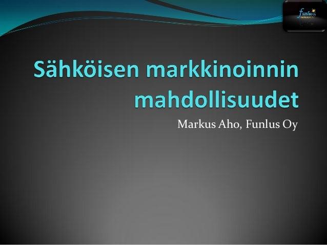 Markus Aho, Funlus Oy