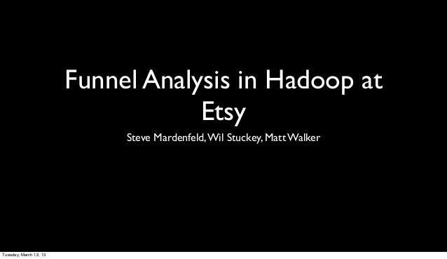 Funnel Analysis in Hadoop at                                    Etsy                             Steve Mardenfeld, Wil Stu...