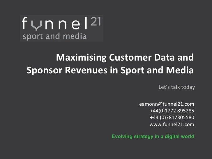 Huge Competitive Advantage World-Wide in Sport and Media  <ul><li>[email_address] </li></ul><ul><li>+44(0)1772 895285 </li...