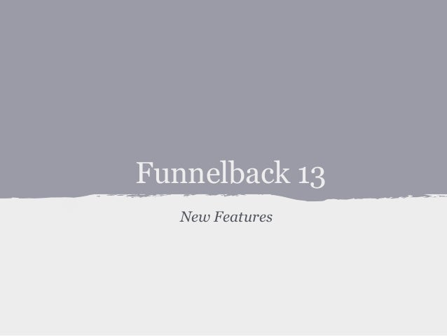 Funnelback 13 New Features