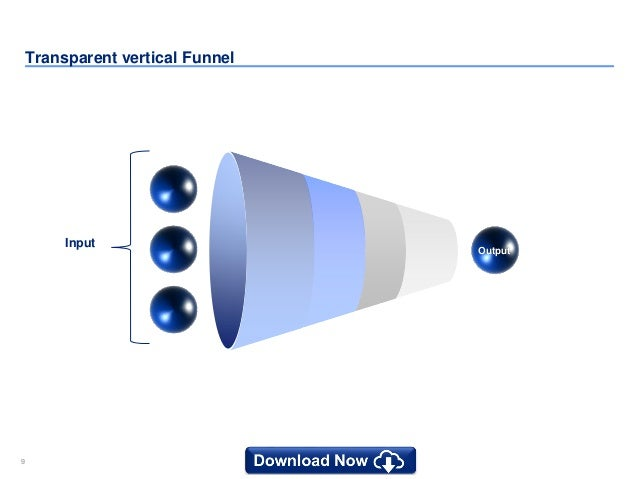 10 powerpoint funnel diagram templates 99 transparent vertical funnel input output ccuart Image collections