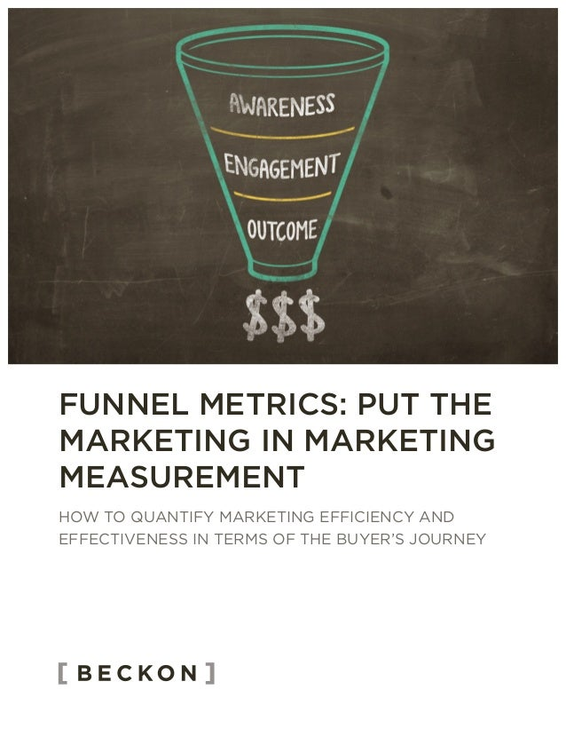 HOW TO QUANTIFY MARKETING EFFICIENCY AND EFFECTIVENESS IN TERMS OF THE BUYER'S JOURNEY FUNNEL METRICS: PUT THE MARKETING I...