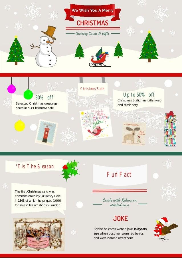 Funny Christmas Cards A Seasonal Holiday Infographic