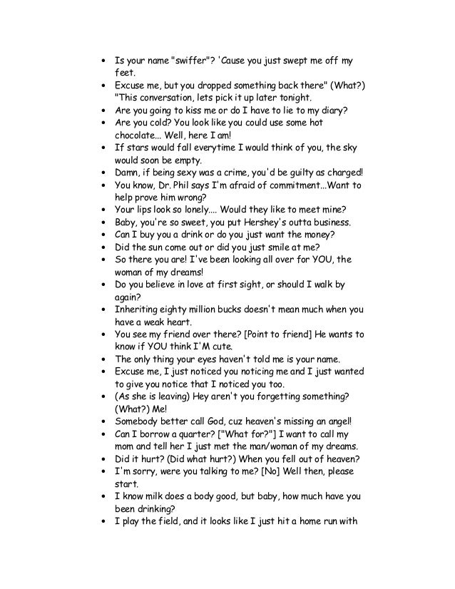 Up new english pick lines List of