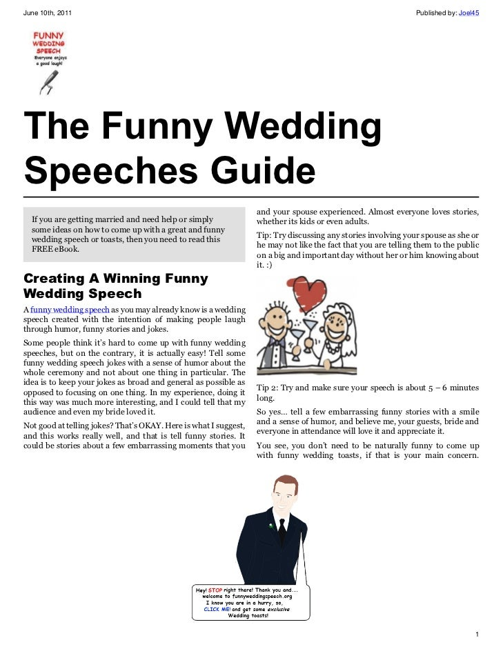 funny wedding speeches for bride