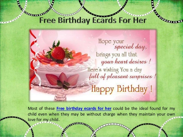 Free E Birthday Cards For Her gangcraftnet – Electronic Birthday Card Free
