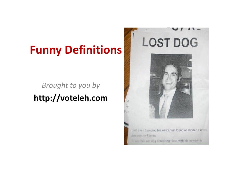 funny definitions slideshare