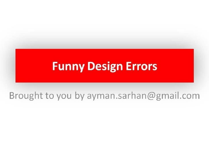 Funny Design Errors V.2
