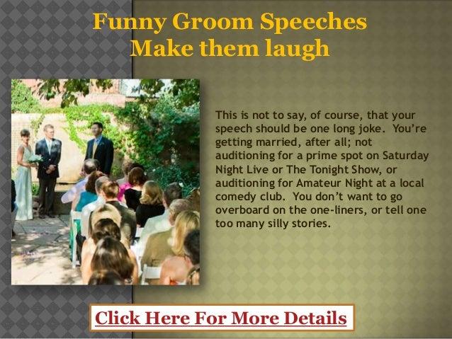 Funny Groom Speeches