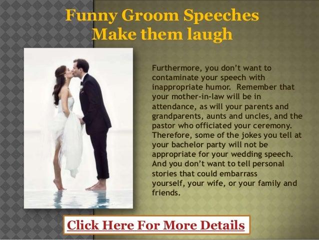 Funny groom speeches – make them laugh