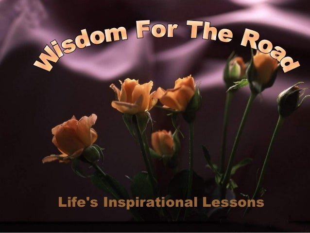 1 Life's Inspirational Lessons
