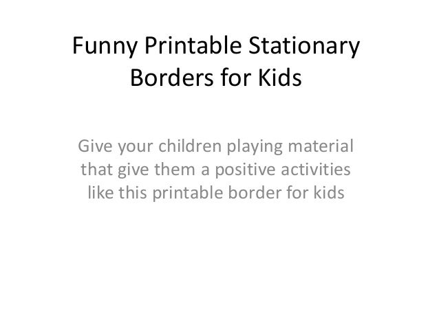 picture relating to Printable Stationary for Kids named Amusing Printable Stationary Borders for Little ones