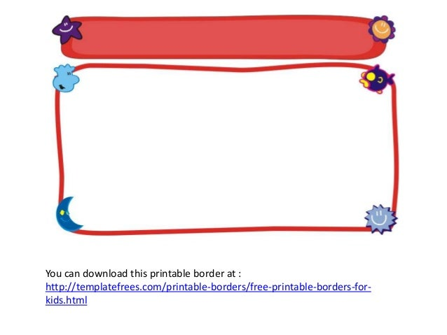 Funny Printable Stationary Borders For Kids