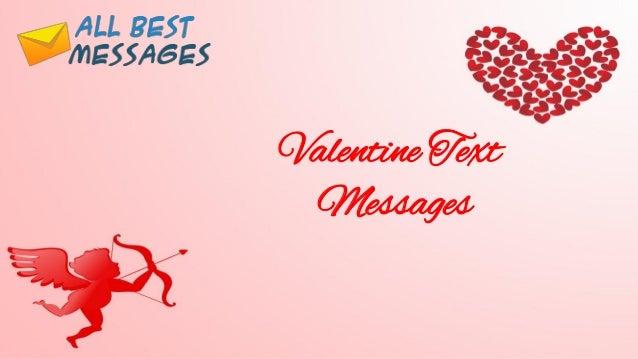 Valentine Text Messages ...