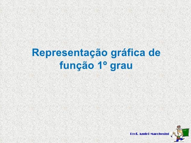 Representação gráfica de função 1º grau