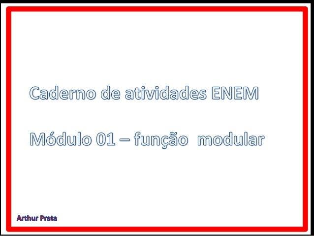 Função modular   caderno de atividades enem módulo 04
