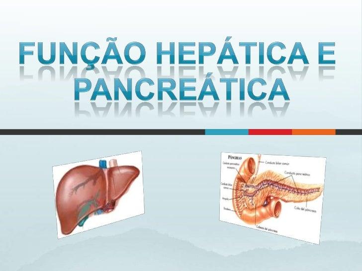 FUNÇÃO HEPÁTICA E<br />PANCREÁTICA<br />
