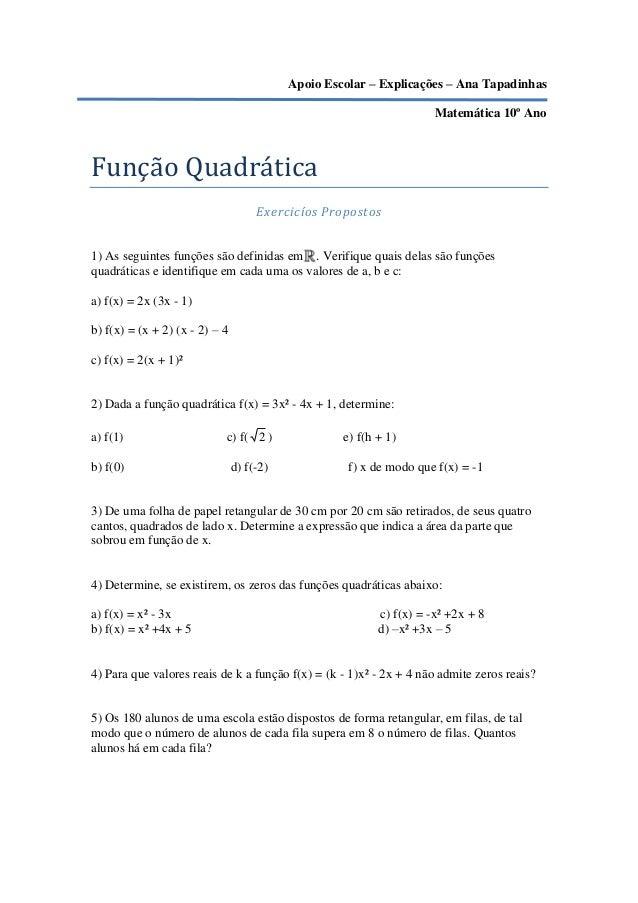 Apoio Escolar – Explicações – Ana Tapadinhas                                                                      Matemáti...