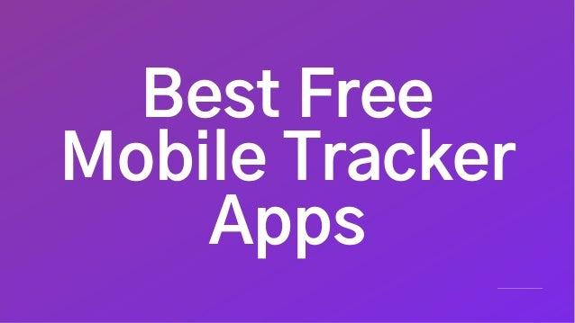 Best Free Mobile Tracker Apps