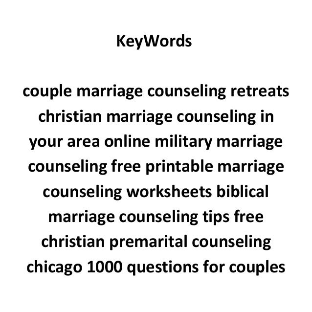 Fun questions before marriage – Marriage Therapy Worksheets