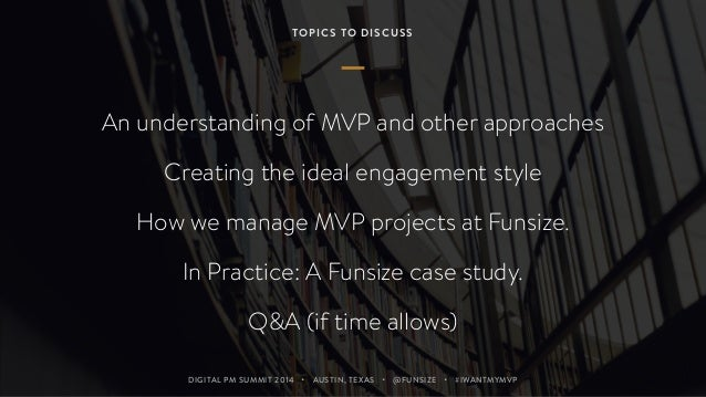 I Want My MVP (Digital Project Management Summit 2014) Slide 3
