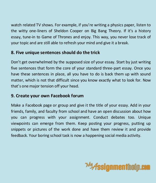 standard american essay format