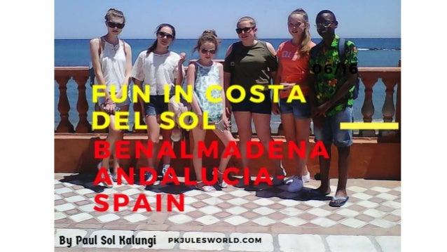 WE VISITED: BENALMADENA PORT, PROMENADE & BEACH. TORREMOLINOS MALAGA GRANADA PUERTO BANUS IN ANDALUCIA SPAIN. JUNE 2016 LE...