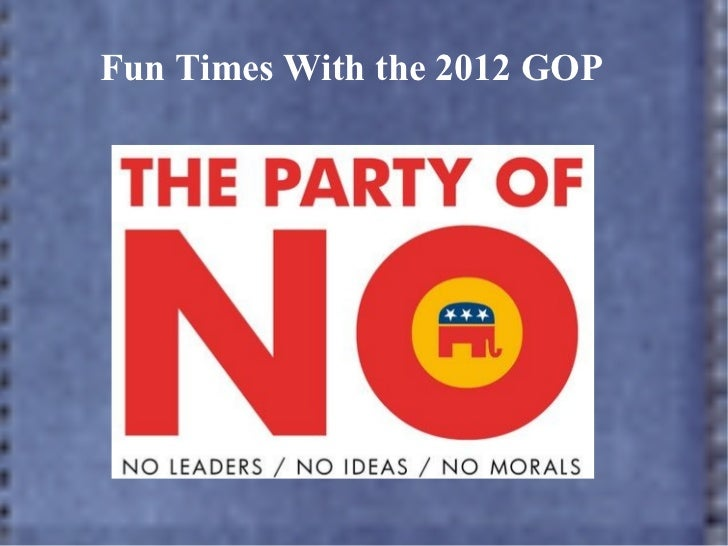 Fun Times With the 2012 GOP