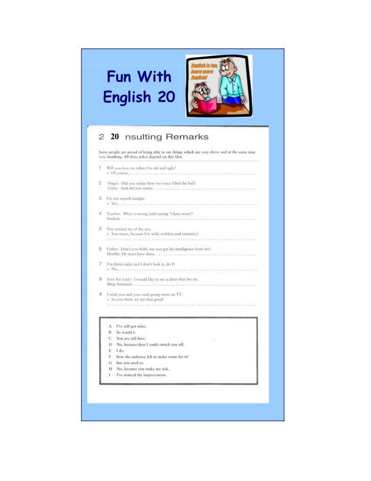 Fun WithEnglish 20 20