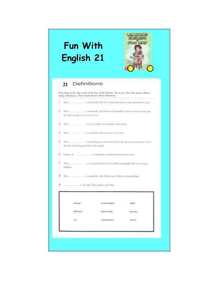 Fun WithEnglish 2121