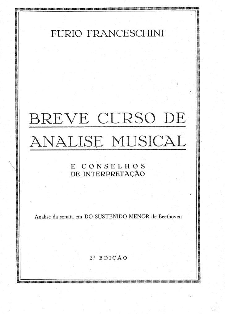 Furio franceschini - Breve curso de análise musical e conselhos de interpretação - 2ª edição