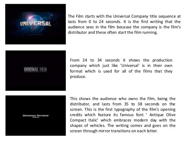 AS Media Coursework- Furious 7 Typography and Sound Analysis