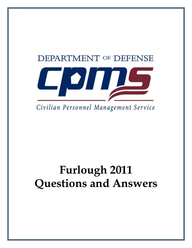 Furlough Fa Qs April 6 2011revision