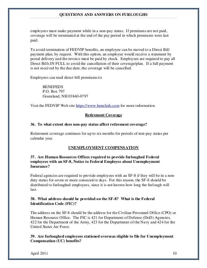 Furlough fa qs april 6 2011revision
