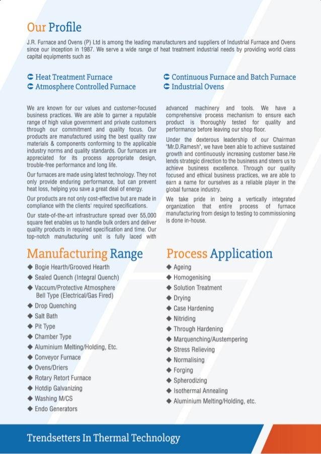 J. R. Furnace & Ovens (P) Ltd., Chennai, Industrial Furnaces and Ovens Slide 2