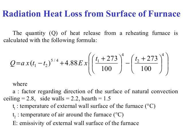 heat loss calculation formula pdf