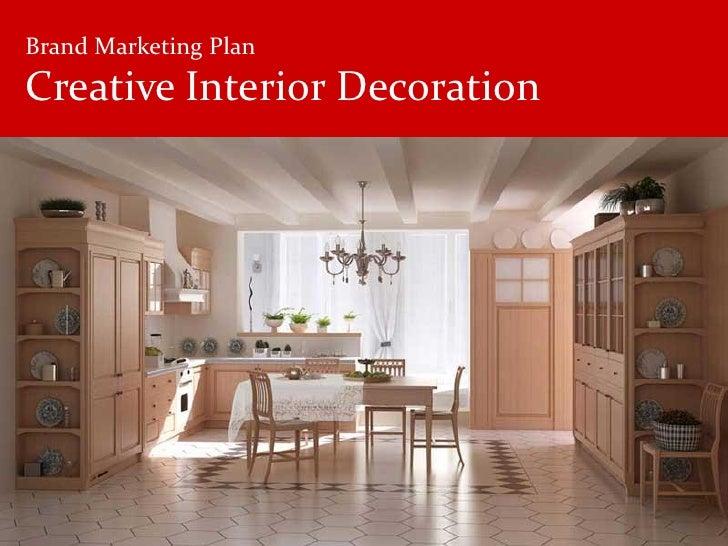 Brand Marketing Plan Creative Interior Decoration