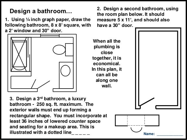 Bathroom Design Graph Paper furniture arrangement and traffic patterns