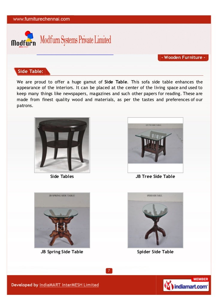 Modfurn Systems India Private Limited Chennai Wooden Furniture