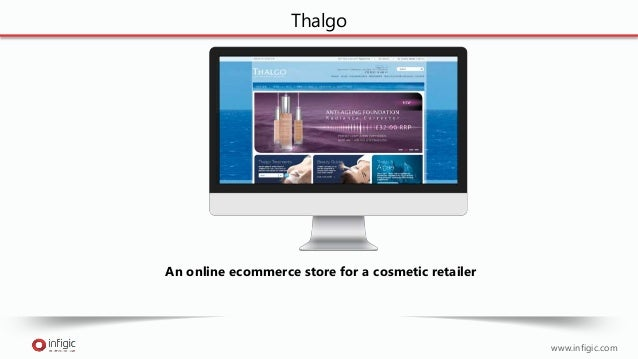 www.infigic.com Thalgo An online ecommerce store for a cosmetic retailer