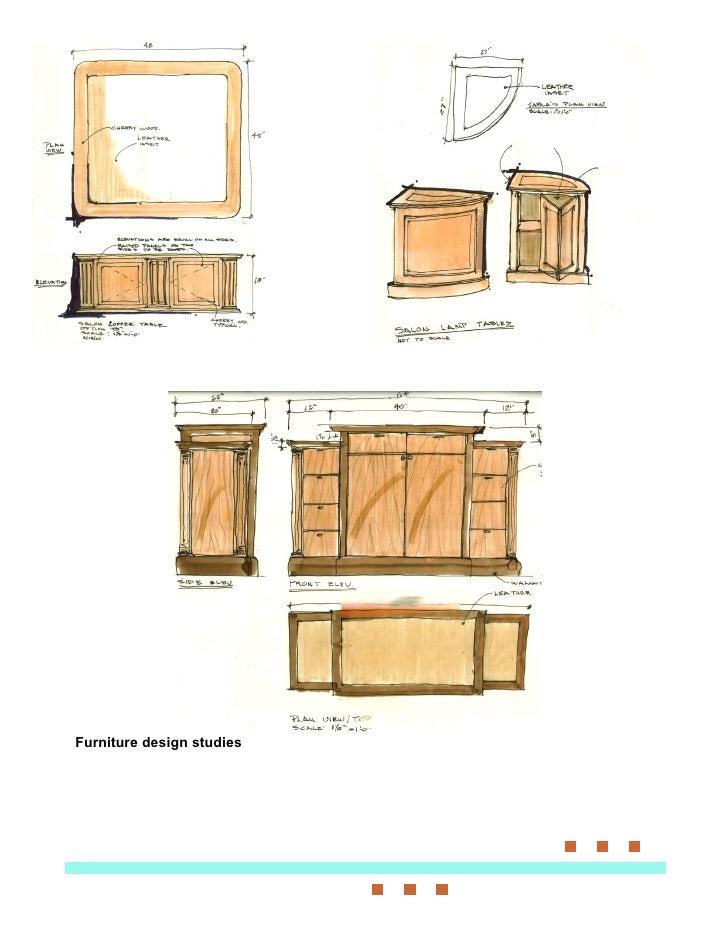 Furniture design studies