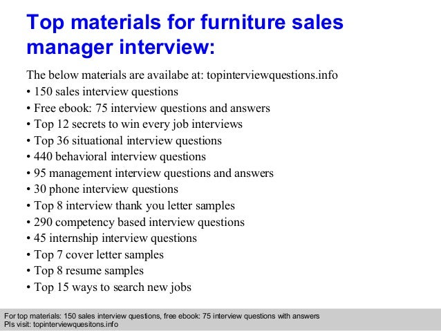 9 - Furniture Sales Resume Sample