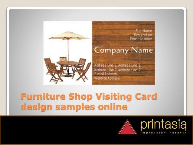 Furniture Shop Visiting Cards Designs Printasia.in
