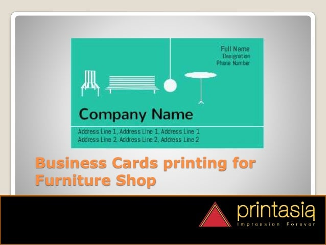 Print Online Furniture Shop Visiting Cards  4. Furniture Shop Visiting Cards Designs Printasia in