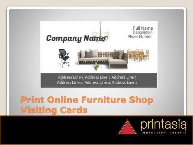 Furniture shop visiting card samples printasia.in